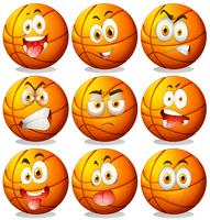 Basketball with facial expressions