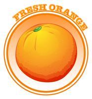 Frische Orange mit Text