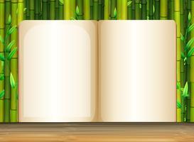 Modèle de fond avec du bambou