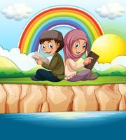 Islamitische jongen en meisje leesboek