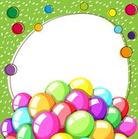 Border template with colorful balloons