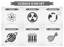 Science icons for different fields of studies