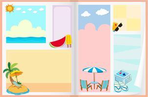 Diseño de papel con tema de verano.