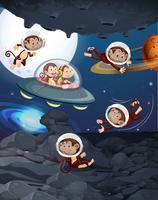 Apa på rymden