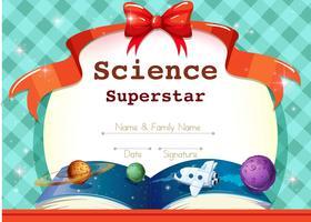 Plantilla de certificado con tema de ciencia