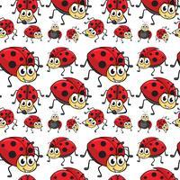 Seamless ladybugs