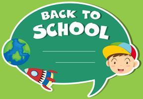 Design di carta con tema di ritorno a scuola