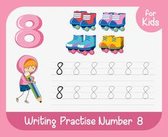 Number eight tracing worksheets