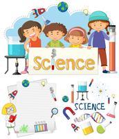 Scienza Banner Elemento e studenti