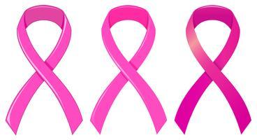 Ruban rose comme symbole médical vecteur