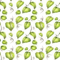 Green leaf seamless pattern