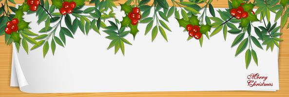Paper template with mistletoes for christmas