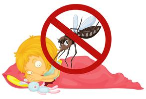 Keine Mücke beim schlafenden Mädchen