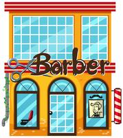 A barber shop on white background