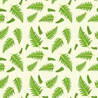 Fern leaf seamless pattern
