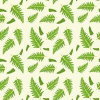 Nahtloses Muster des Farnblattes