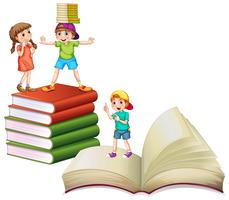 Children and big books