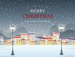 Feliz Navidad temática de invierno escena