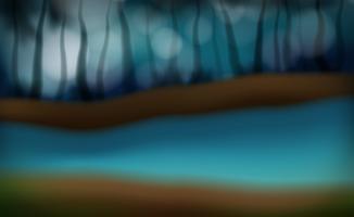 Una scena di sfocatura del fiume di notte