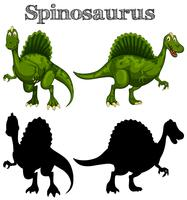 Two spinosaurus on white background