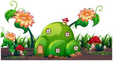 Una casa mágica encantada.