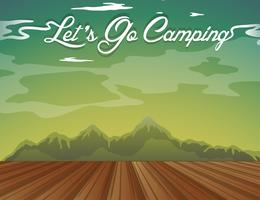 Background design with words let's go camping