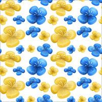 Blue and yellow seamless pattern