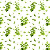 Beautiful leaf on seamless pattern