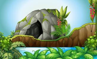 Cueva en la naturaleza