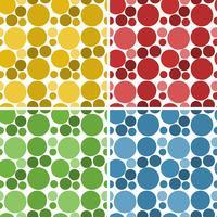 Un conjunto de patrón de círculo transparente
