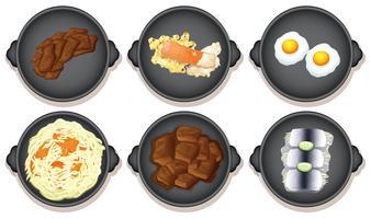 Eine Reihe von gesunden Lebensmitteln
