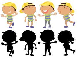 Set di caratteri del giovane ragazzo