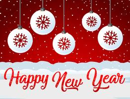 Gott nytt år rött kort