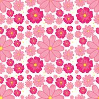 Pink flower seamless background