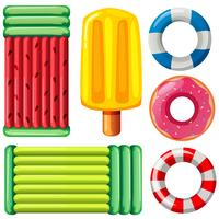 A set of pool floats
