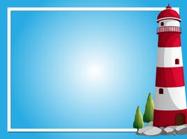 Border template with lighthouse vector