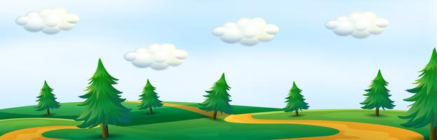 A beautiful nature panorama vector