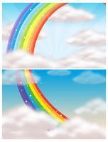 Ein schöner Himmel und Regenbogen
