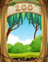 Een natuur dierentuin sjabloon