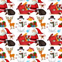 Santa claus seamless pattern