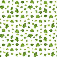 Green leaf seamless pattern