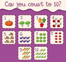 Mathematics Card Count 1 to 10
