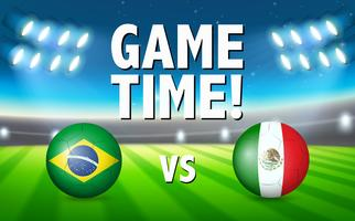 Brazil VS Mexico football match