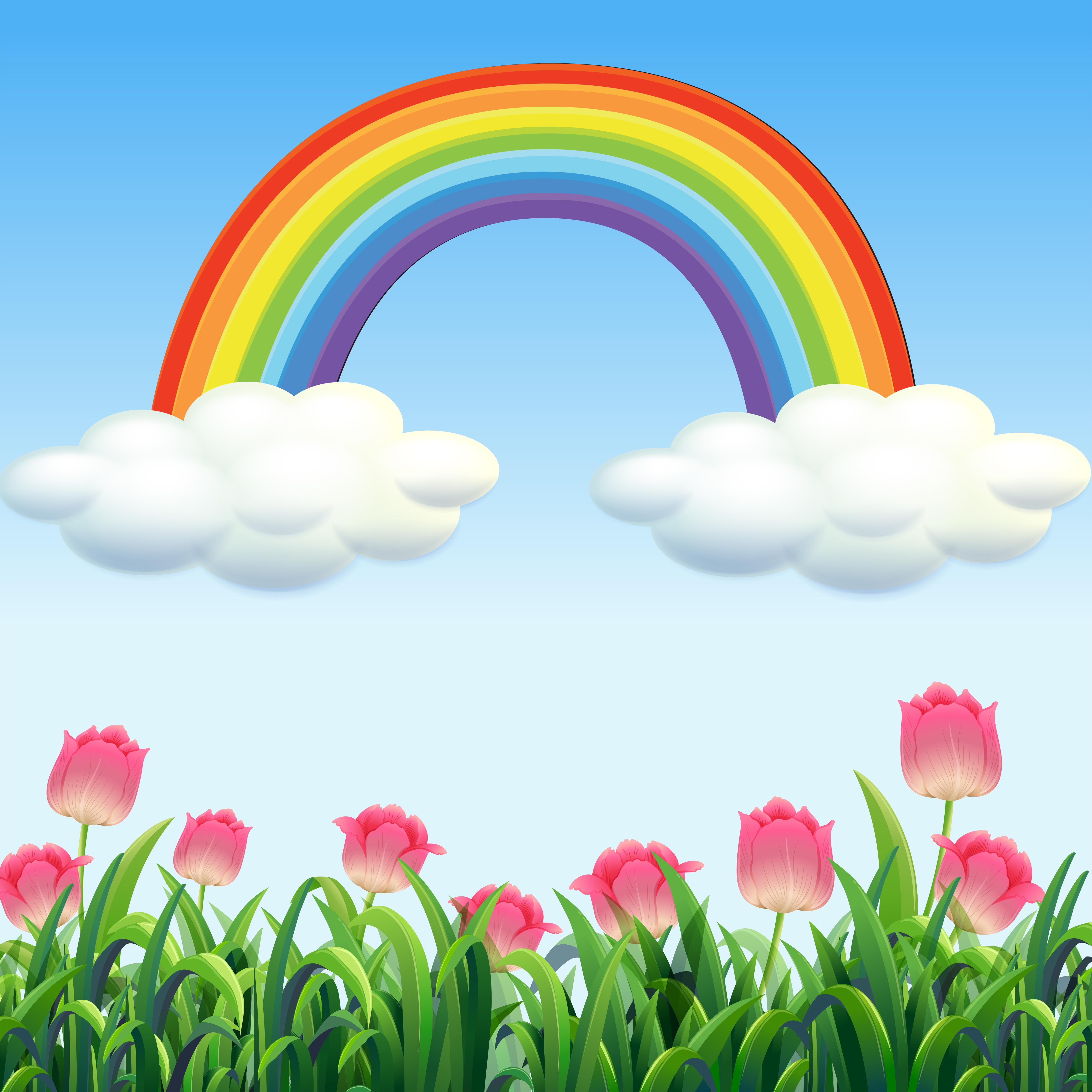 a beautiful flower garden scene download free vectors clipart graphics vector art vecteezy