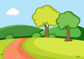 A nature park background vector