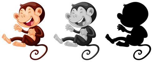 Set di scimmia che ride