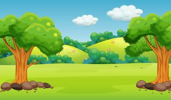 A flat nature background vector