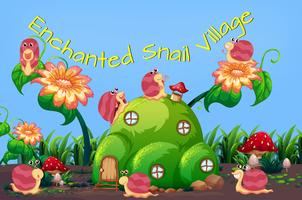 Enchanted snail village template