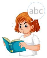 A diabetes girl having blurred vision