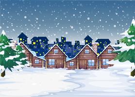 Um fundo de noite de inverno vetor